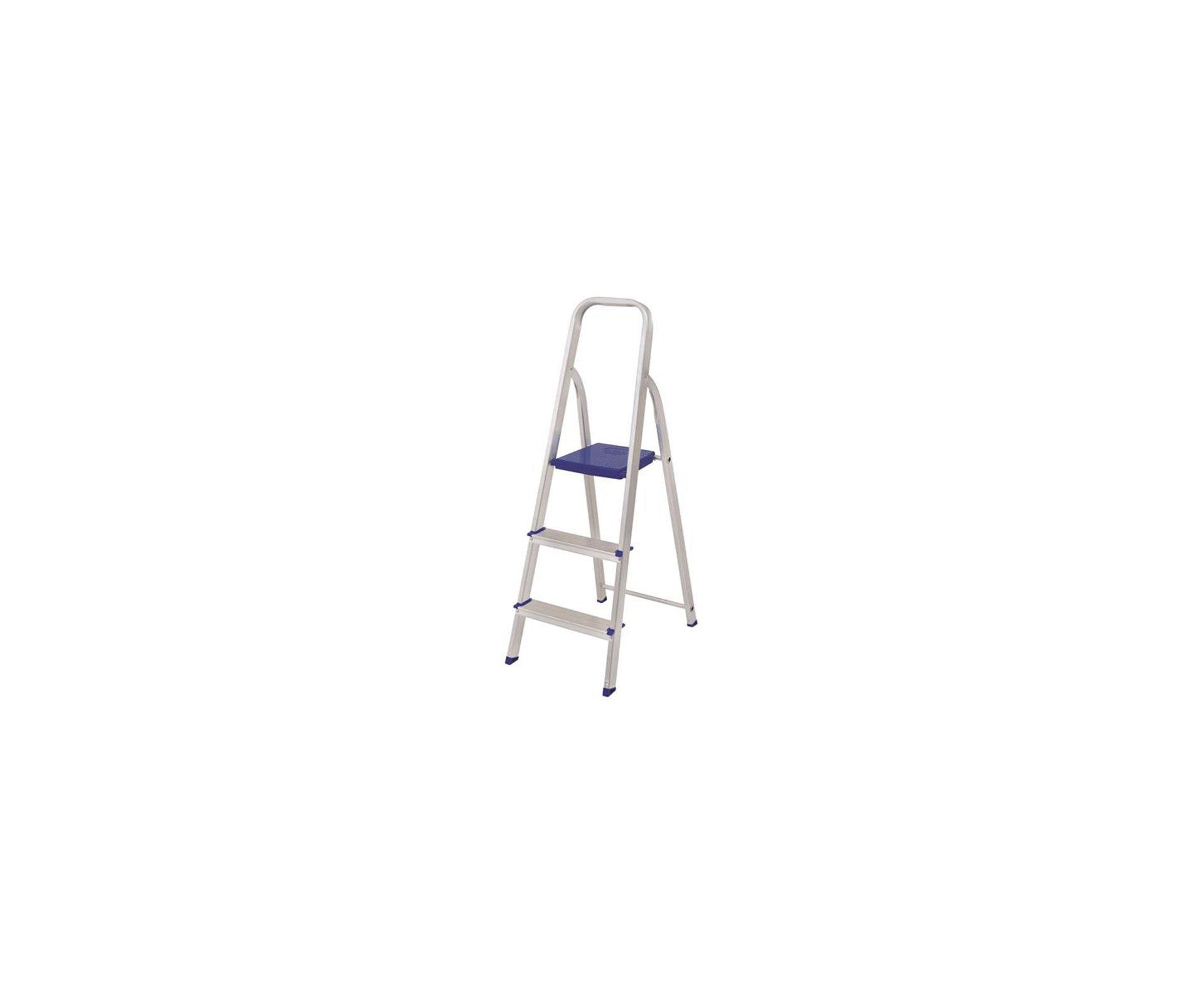Escada Aluminio 3 Degraus - Mor