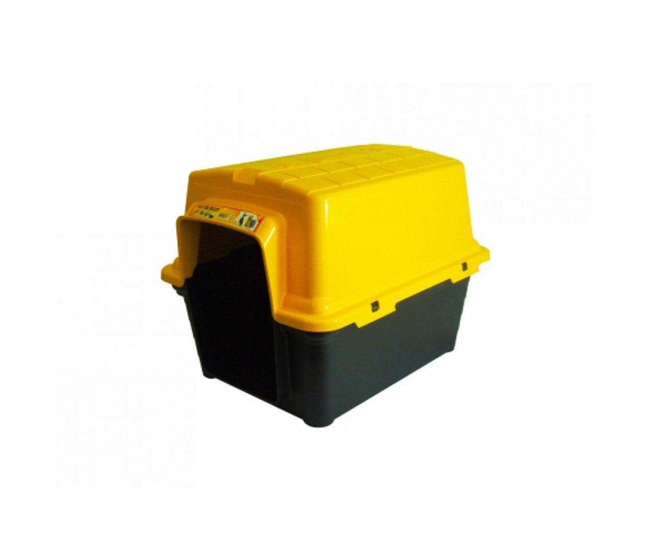 Casinha Para Cachorro -  Plastica 2 Em 1  N1,0 - Amarela - Furacãopet