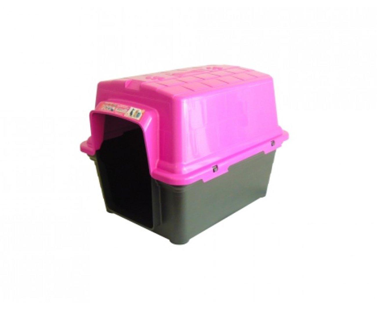 Casinha Para Cachorro -  Plastica 2 Em 1  N1,0 - Rosa - Furacãopet