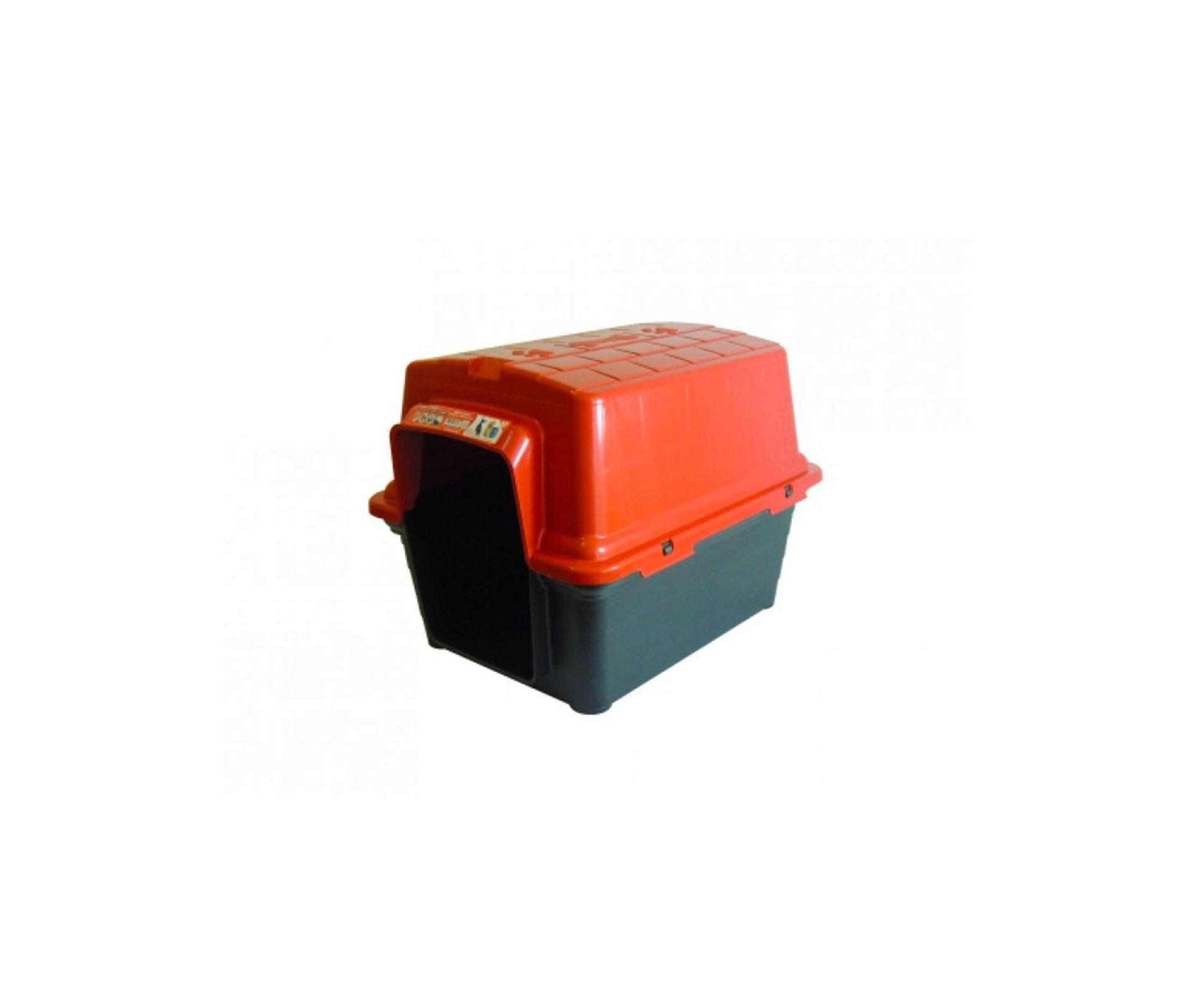 Casinha Para Cachorro -  Plastica 2 Em 1  N1,0 - Vermelha - Furacãopet