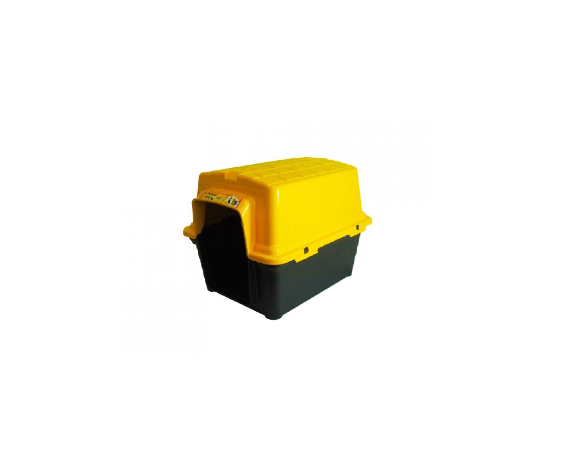 Casinha Para Cachorro -  Plastica 2 Em 1  N 2,0 - Amarela - Furacãopet