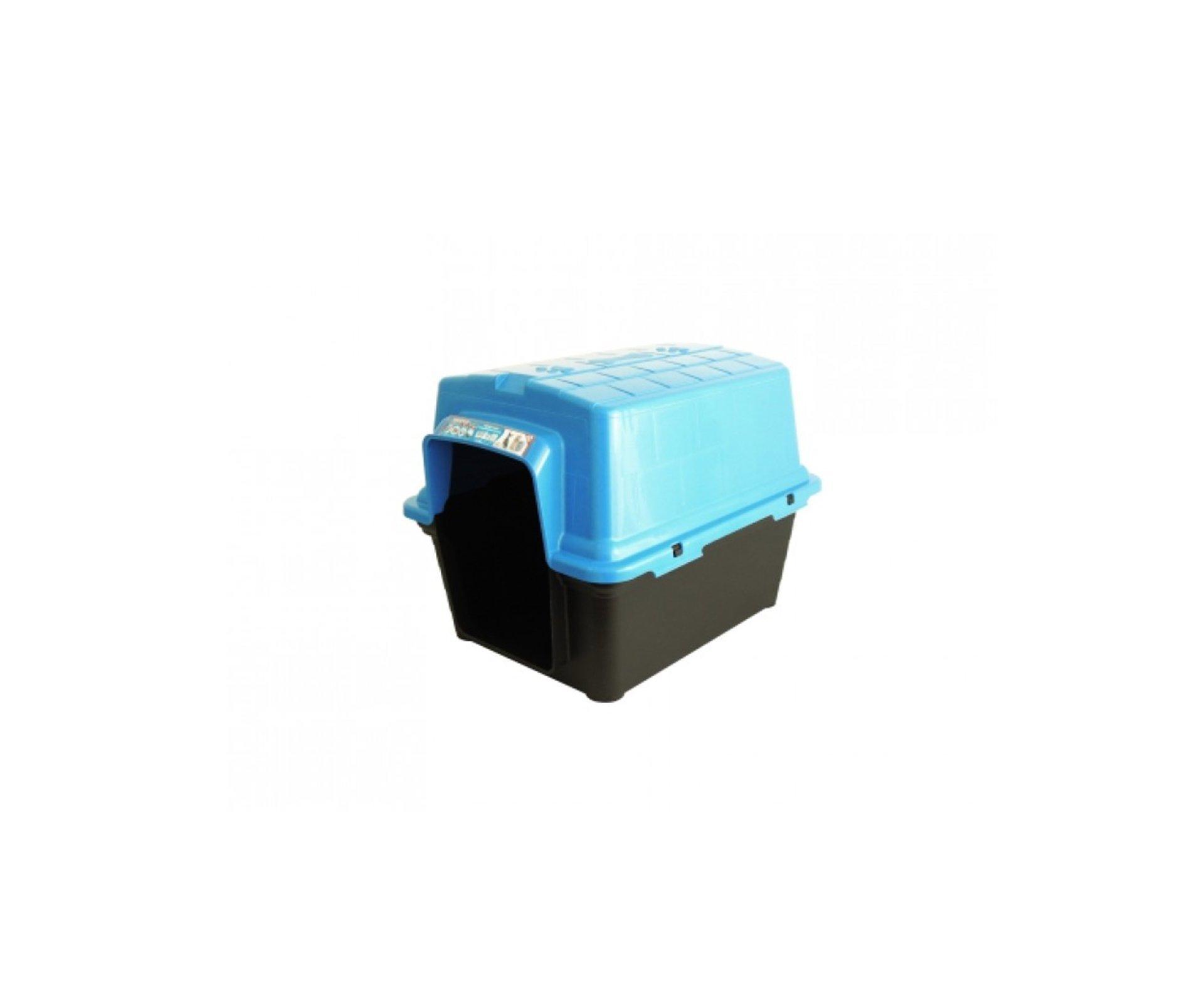 Casinha Para Cachorro -  Plastica 2 Em 1  N 2,0 - Azul - Furacãopet