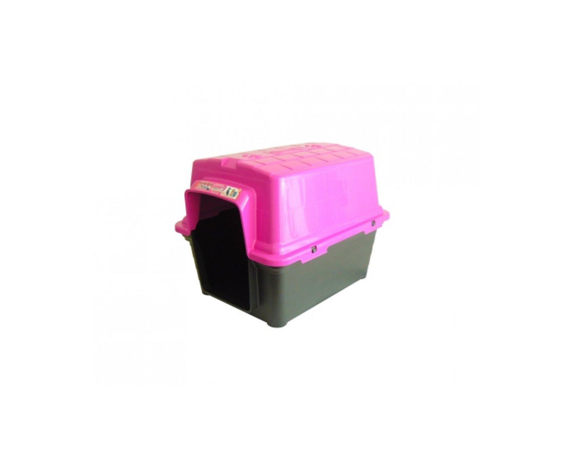 Casinha Para Cachorro -  Plastica 2 Em 1  N 2,0 - Rosa- Furacãopet