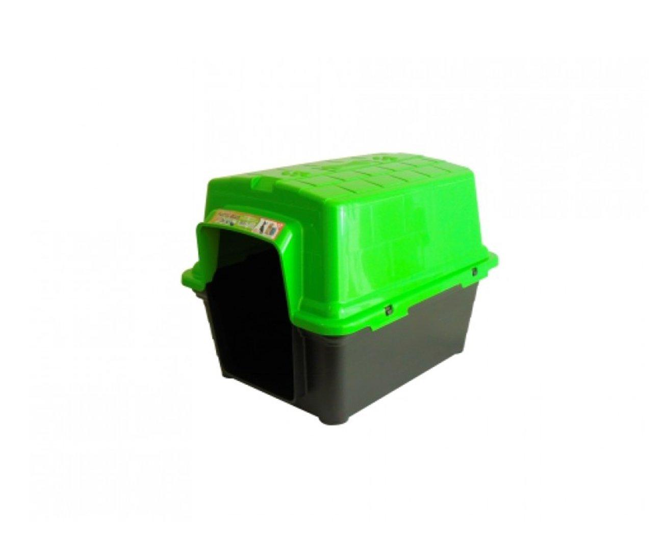 Casinha Para Cachorro -  Plastica 2 Em 1  N 2,0 - Verde - Furacãopet