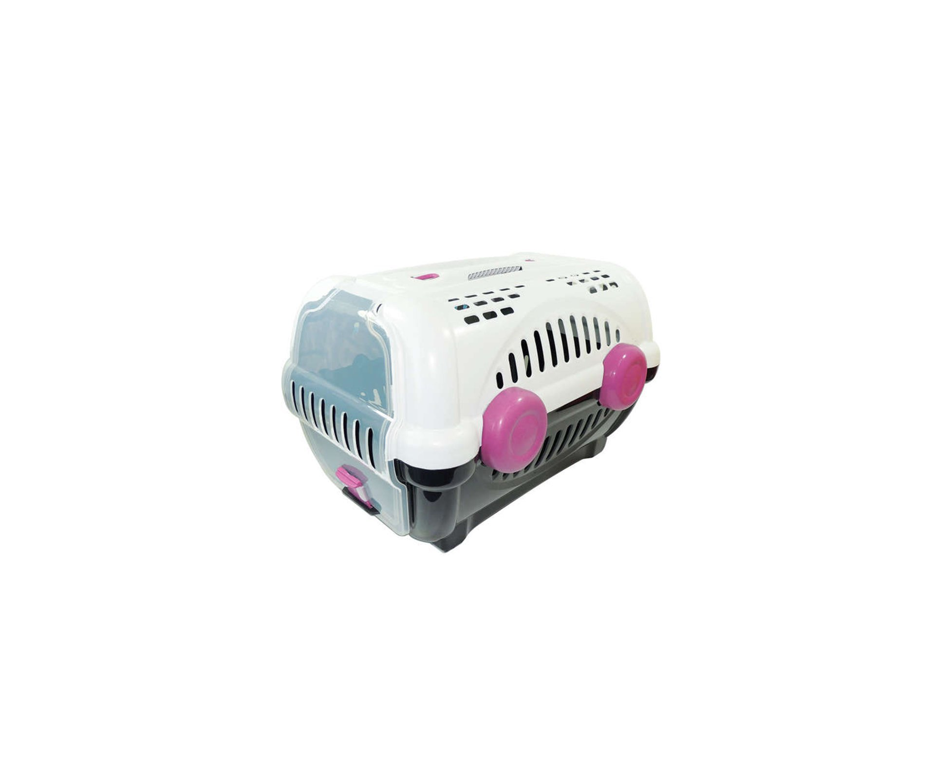 Caixa De Transporte Luxo N1 - Branca/rosa - Furacãopet