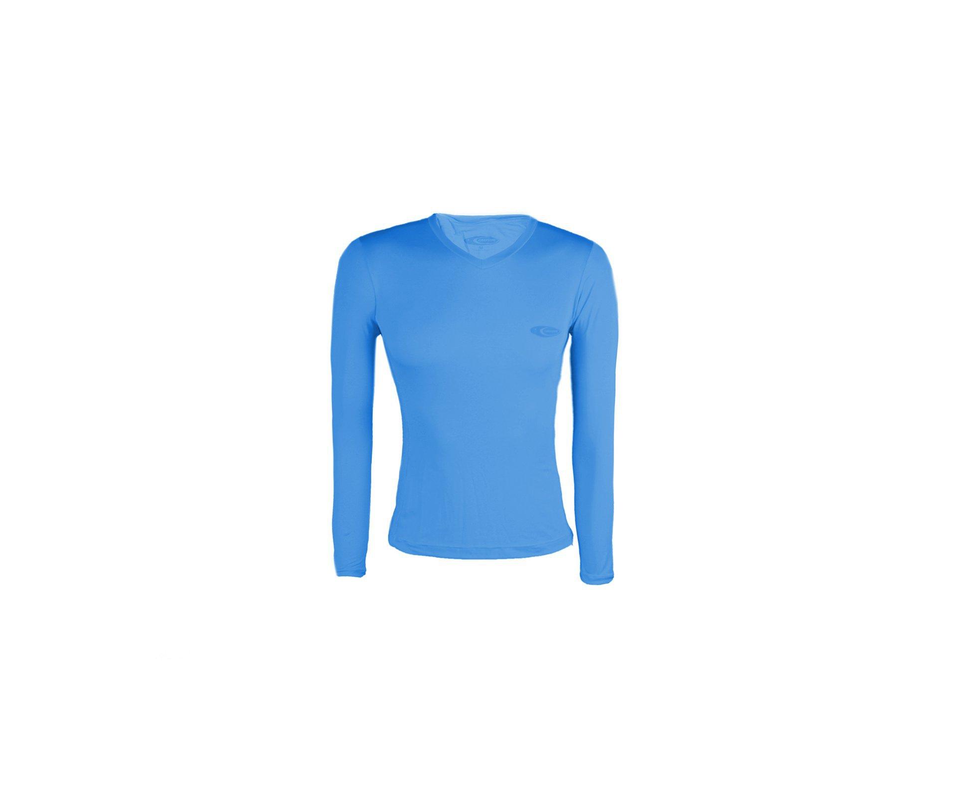 Camiseta Softline Feminina Azul - Proteção Uva/uvb 50+ Fps - Cardume