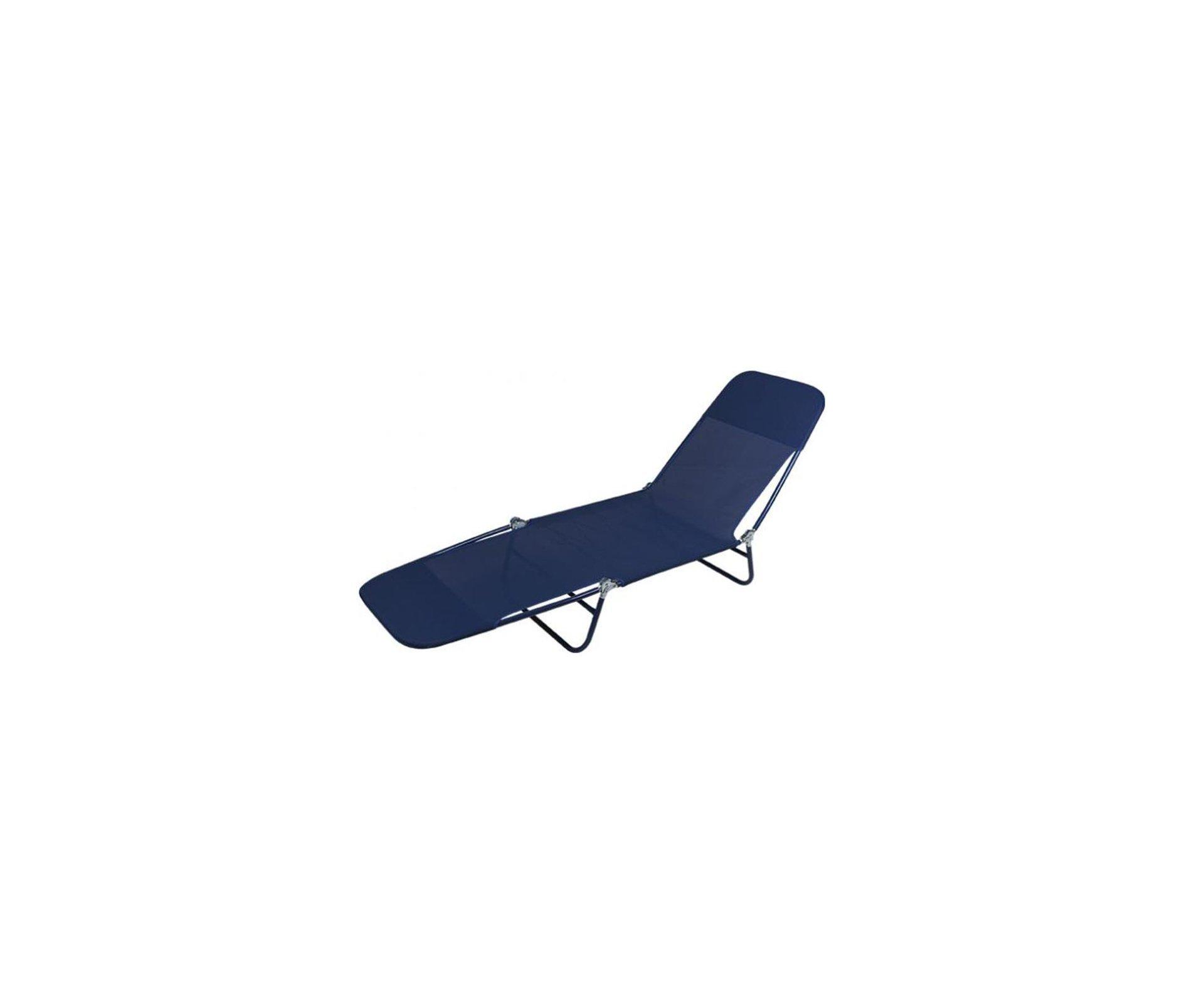Cadeira Espreguiçadeira Textilene Fashion Azul - Mor