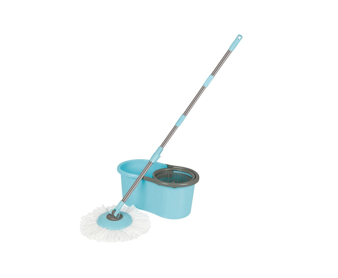 Conjunto Mop Spin - Esfregão + Balde - Limpeza Pratica - Mor
