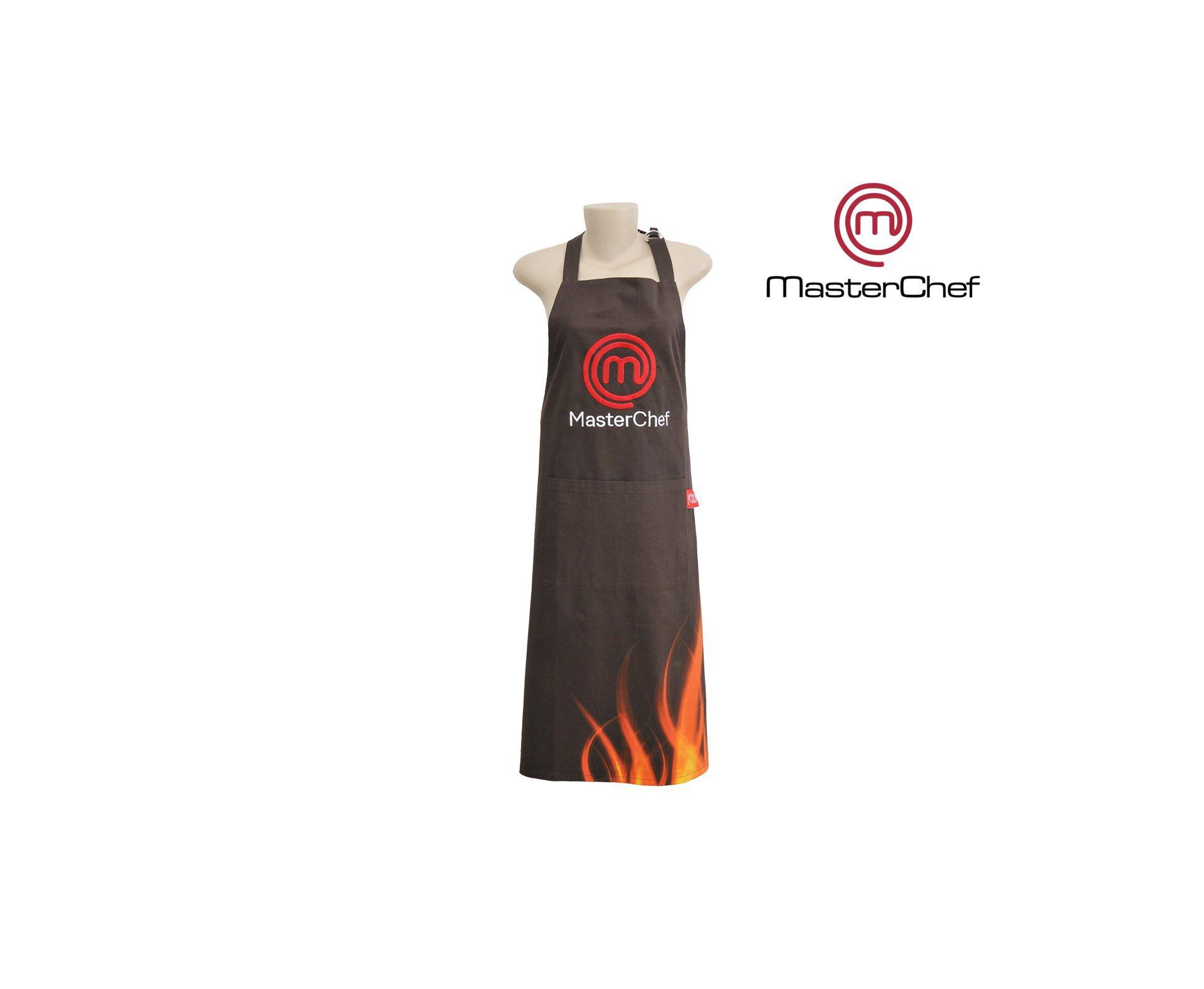 Avental Longo De Cozinha Algodão Marrom 96x69cm - Masterchef