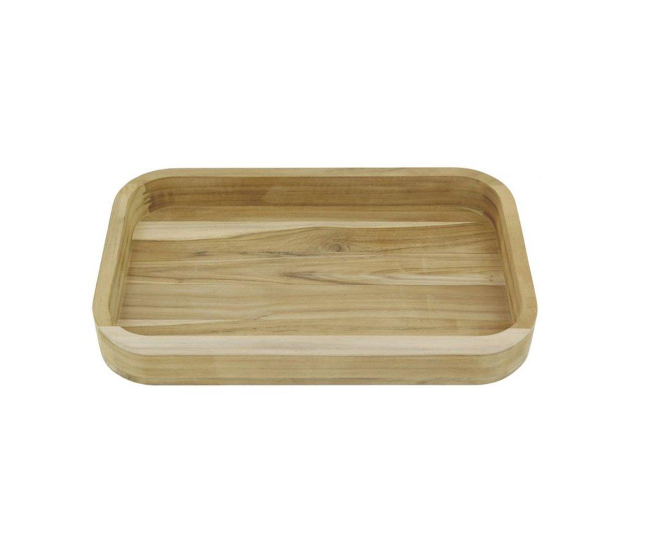 Gamela De Madeira Salada/churrasco Teca 450x300mm 13209052 - Tramontina