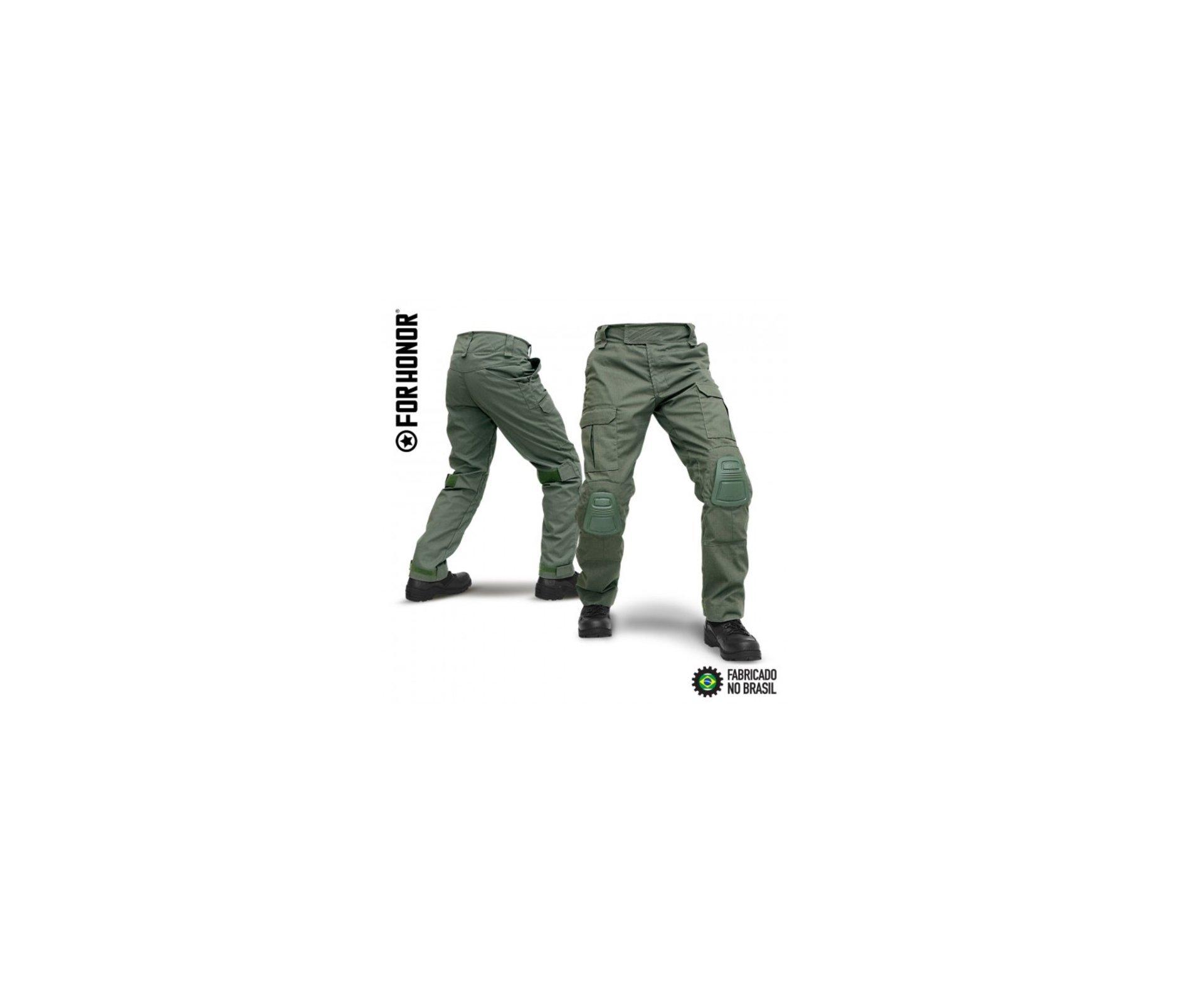Calça Tatica Com Joelheira F3 Verde Oliva - Forhonor