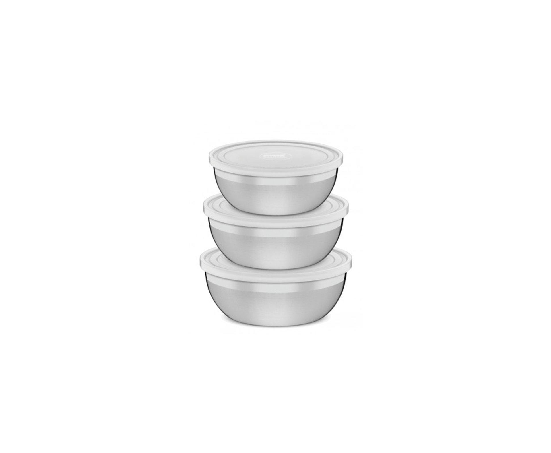 Jogo Potes Em Aço Inox 3 Pcs Freezinox - Tramontina