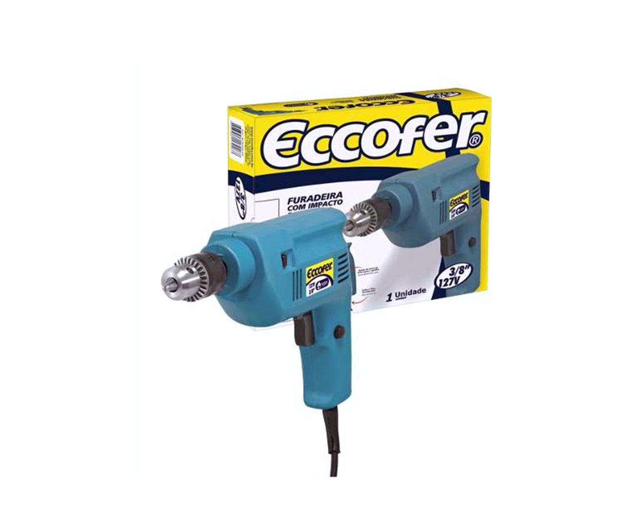Furadeira De Impacto Reversivel Eccofer 300w Fi 038 - 127v
