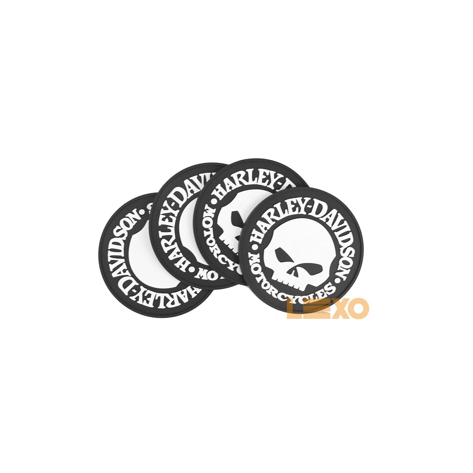 Porta Copo Emborrachado Harley Davidson Caveira - Bar Light