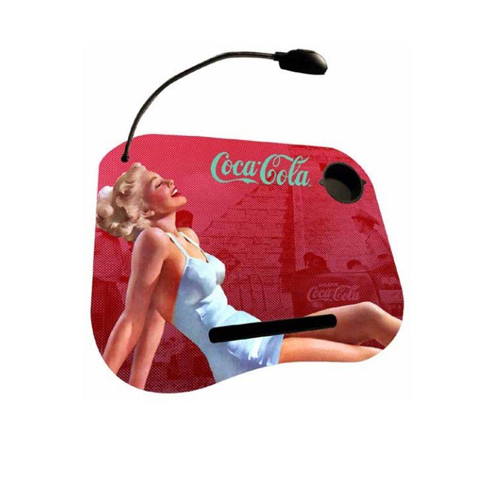 Suporte Para Notebook Com Almofada E Led - Pin Up Blond Lady - Coca-cola
