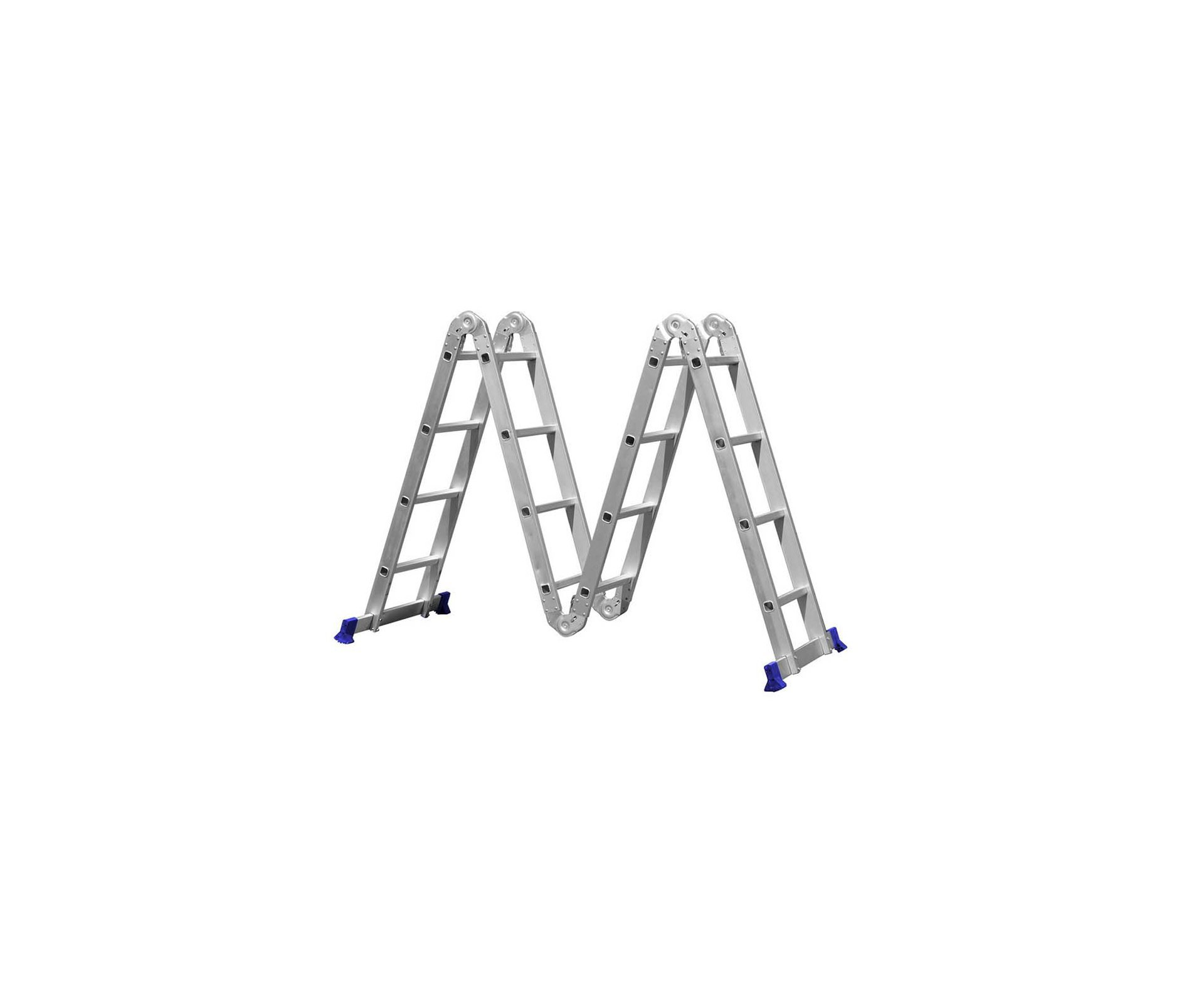 Escada Mor Multifuncional 4x4 Aluminio 16 Degraus