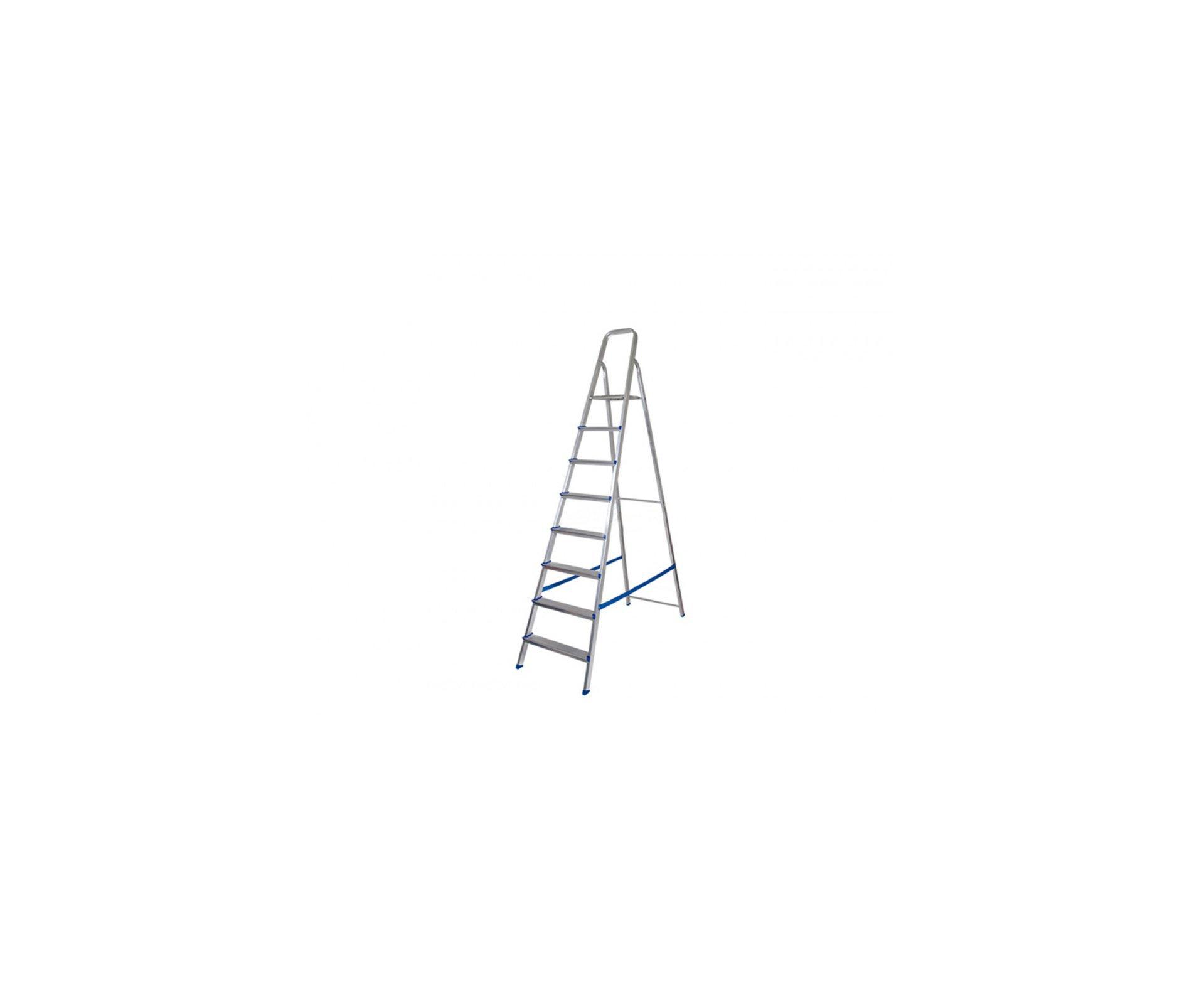 Escada Aluminio Mor Com 8 Degraus 120kg