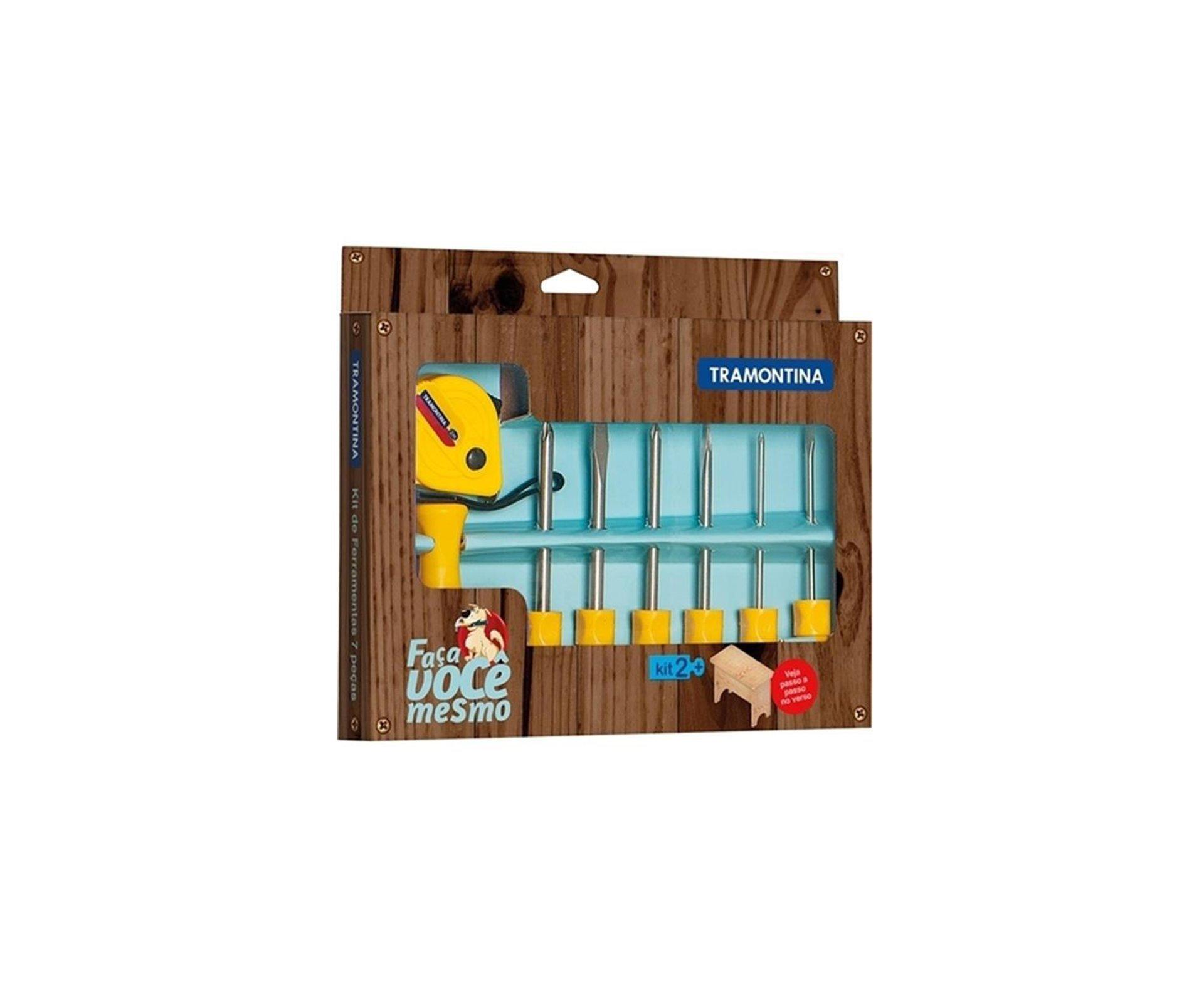 Conjunto De Ferramentas Tramontina 43408421 Amarelo - 7 Peças