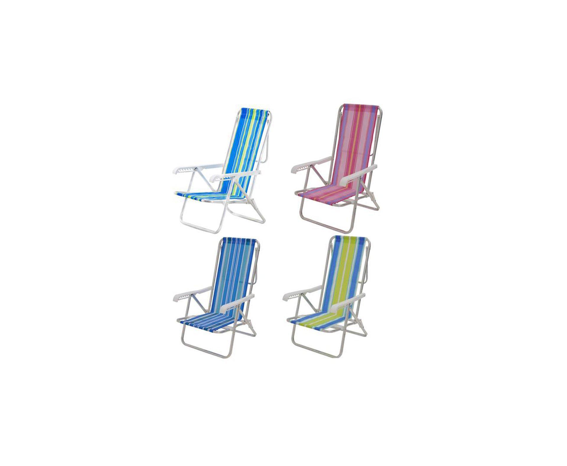 Cadeira Mor Reclinável 8 Posições Alumínio