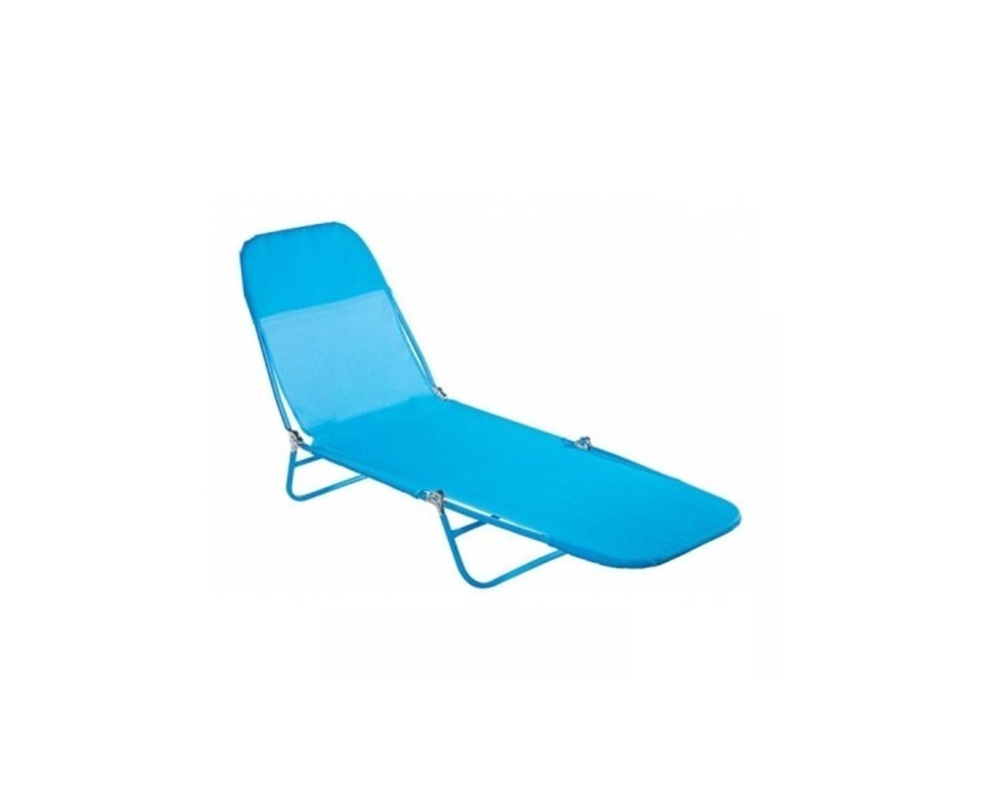Cadeira Espreguiçadeira Textilene Fashion Azul Claro - Mor
