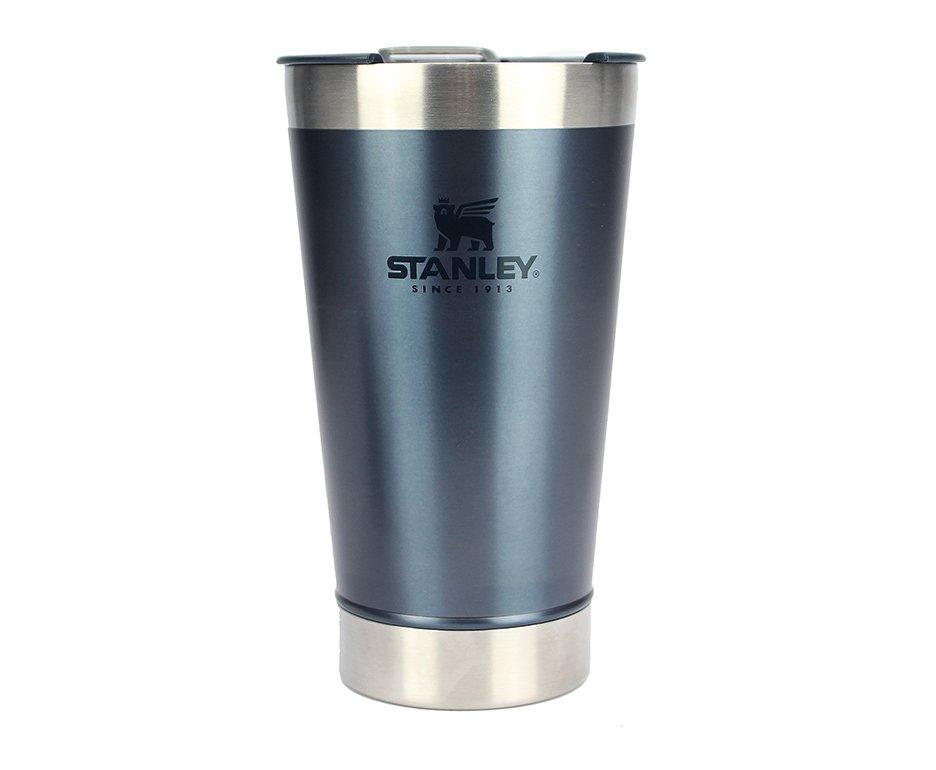 Copo Térmico Cerveja Stanley Inox Azul Navy Com Abridor De Garrafas 473ml