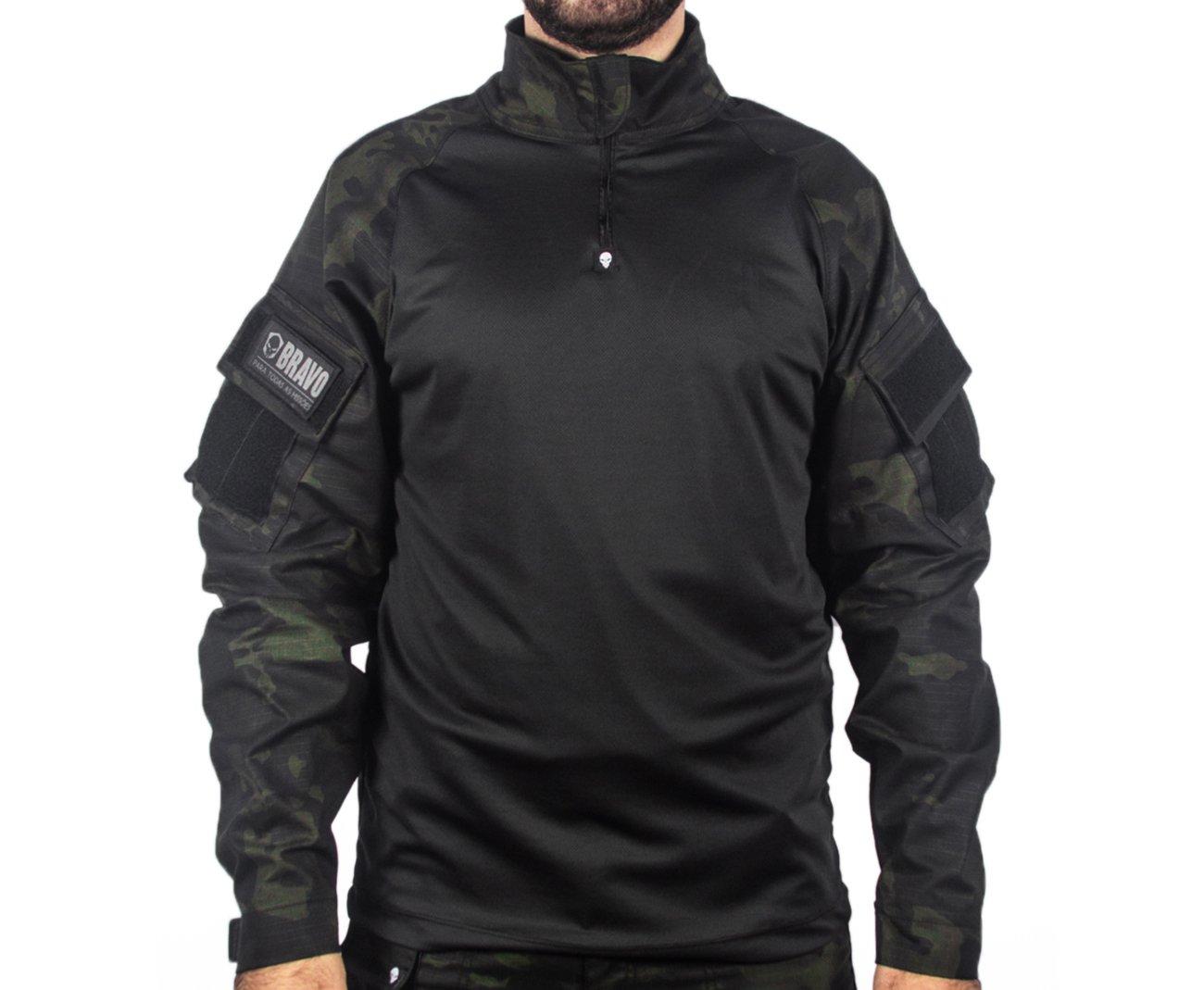 Camisa Combat Shirt Bravo Multicam Black