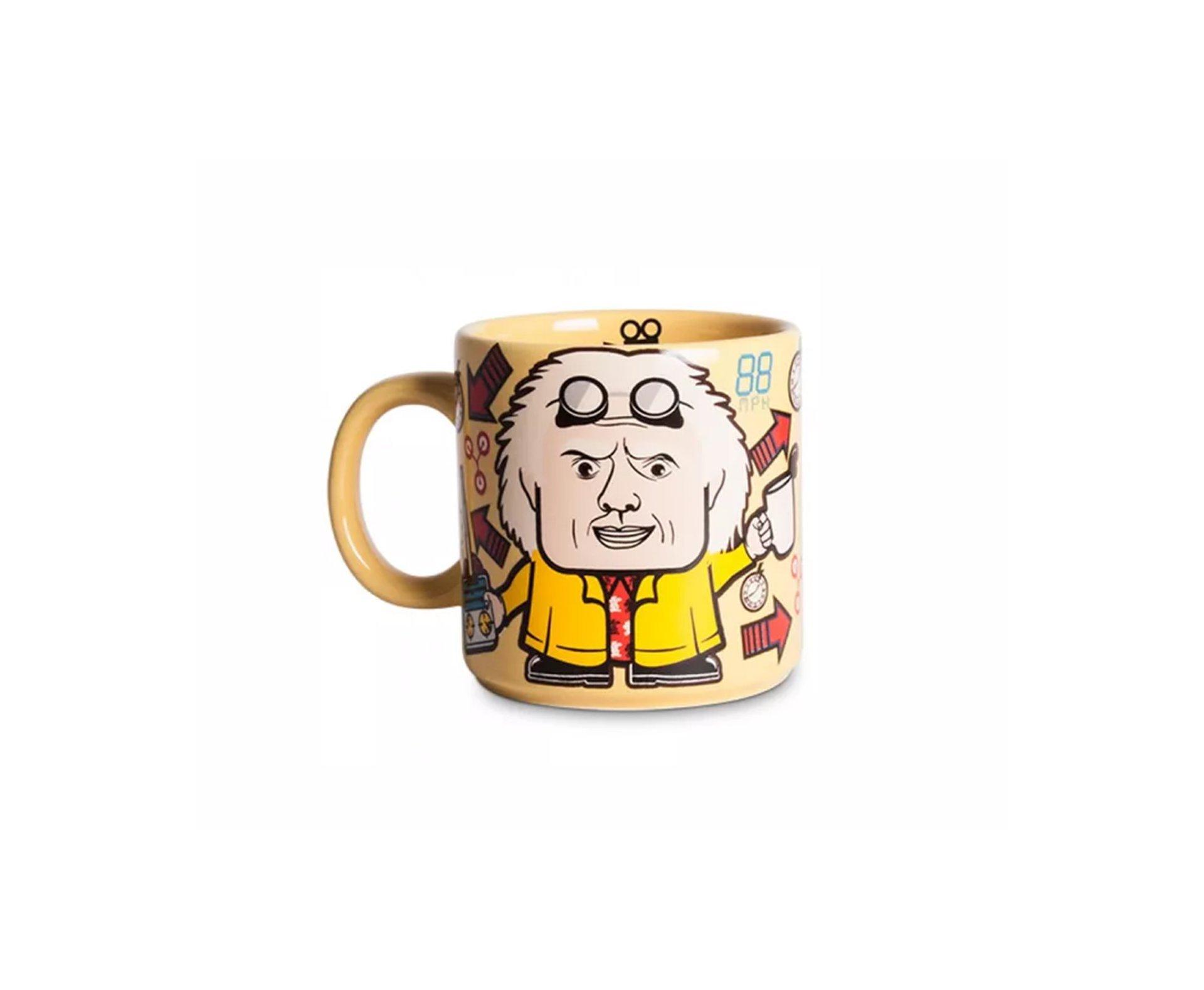 Caneca Amarela De Volta Para A Cafeina